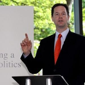 Deputy Prime Minister Nick Clegg set out the Government's plans for political reform