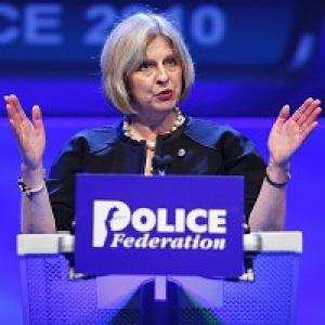 Home Secretary Theresa May pledged to hand power back to the police frontline