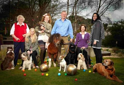 Martin Clunes and the Buckham Fair committee