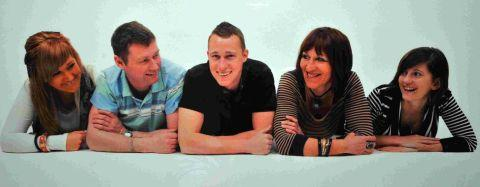 MISSED: Marine James Wright with his family