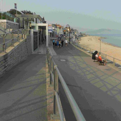 The Marine Parade in Lyme Regis