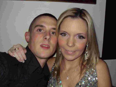 TRIBUTES: Matthew Cottrell with his fiancee Debbie Smith