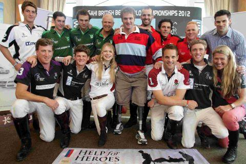 PLAY TIME: 2012 Asahi Beach Polo competitors at the Sandbanks Hotel with Help for Heroes ambassador Neil Heritage, centre