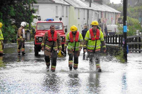 RESCUE: Firefighters at Maiden Newton