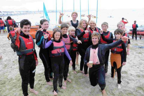 POPULAR: People taking part in windsurfing tasters at Weymouth Beach Sports Arena