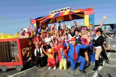 TOP FLOAT: The Party Shop's circus-themed entry