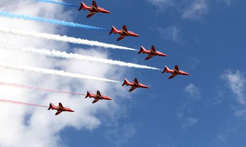 Day one of Bournemouth Air Festival looks set to be record day
