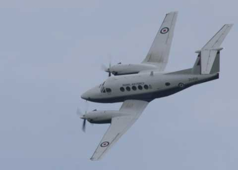 King Air. Bournemouth Air Festival. Picture: Corin Messer.