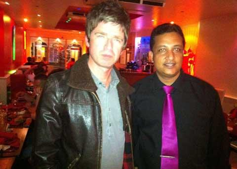 Noel Gallagher makes surprise appearance at Indian restaurant in Bournemouth