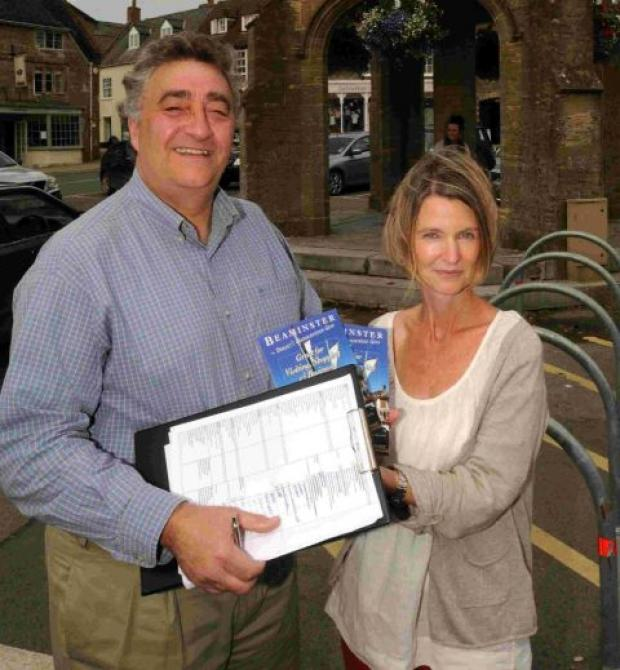 Nigel Reeve and Sally-Ann Palmer promoting Beaminster