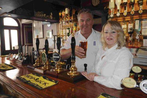 Graham and Jacquie Taylor of the Tiger Inn, Bridport