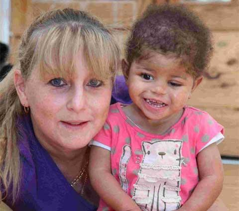 GENEROUS DONATIONS: Tammy Furley with her daughter Tehya
