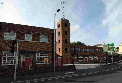 VACANT: The old Weymouth fire station site