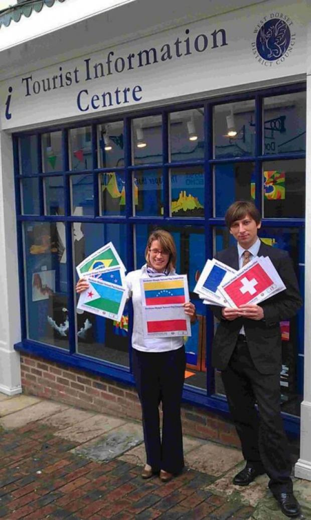 CONTEST: Staff from the Dorchester Tourist Information Centre