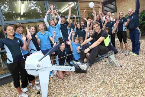 James Cracknell meets Bournemouth's future sports stars