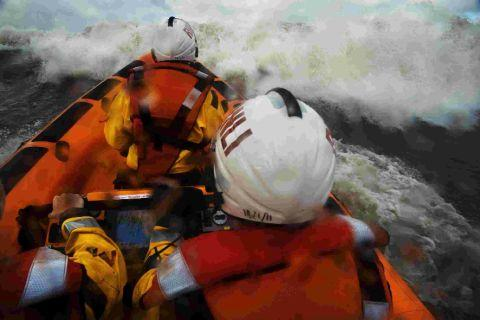 CRUCIAL SERVICE: The RNLI in action