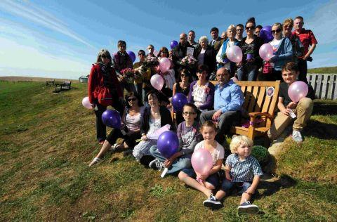 IN HER MEMORY: Family and friends unveil bench in memory of Charlotte Blackman