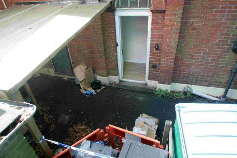 MURDER PROBE: The crime scene at Poole Road, Westbourne