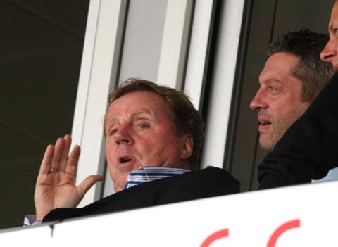 TOUGH TO WATCH: Harry Redknapp watches the match on Saturday