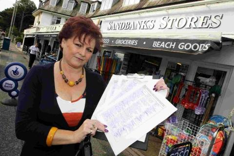 Hundreds join anti-Sandbanks Tesco campaign