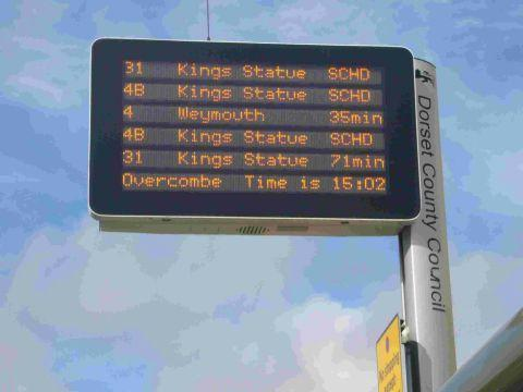 CONFUSION ON THE BUSES: The new indicator boards in Weymouth