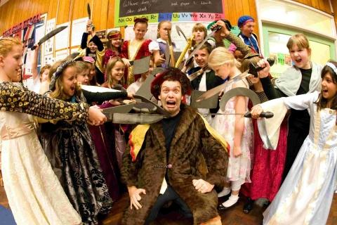 Terrible tudors brought to life at Poole school