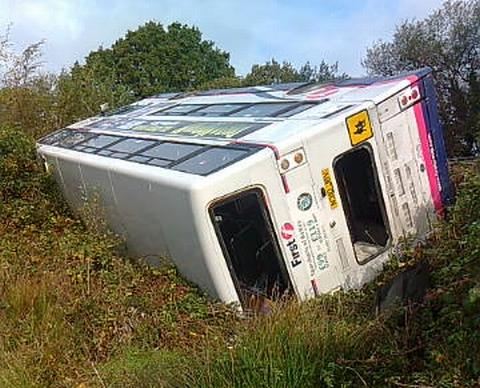 Double-decker bus crash: engineers inspected road week before crash