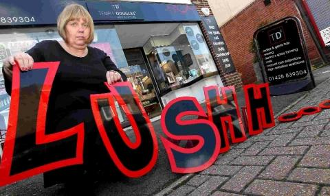 Salon owner forced to re-brand business after row with Lush