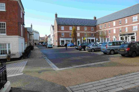 OPERATION: A general view of part of Challacombe Street in Poundbury