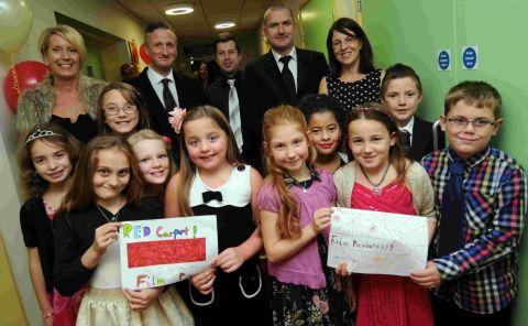 OUR BIG NIGHT: Holy Trinity pupils and parents on the red carpet