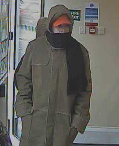 CCTV: man sought after bank robbery in Wallisdown