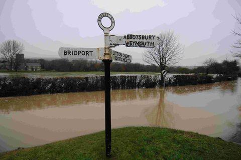 FLOODS: Burton Bradstock was hit again