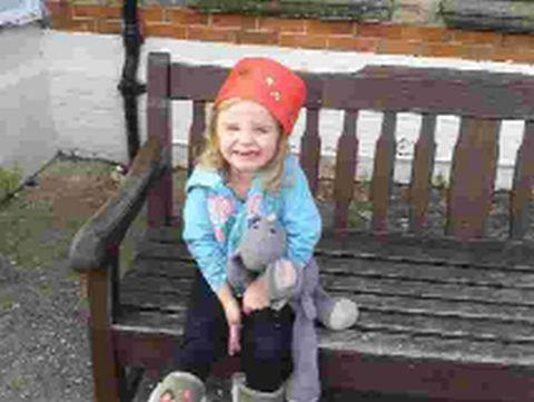 POPPY APPEAL: Three-year-old Poppy Trent with missing Mouse