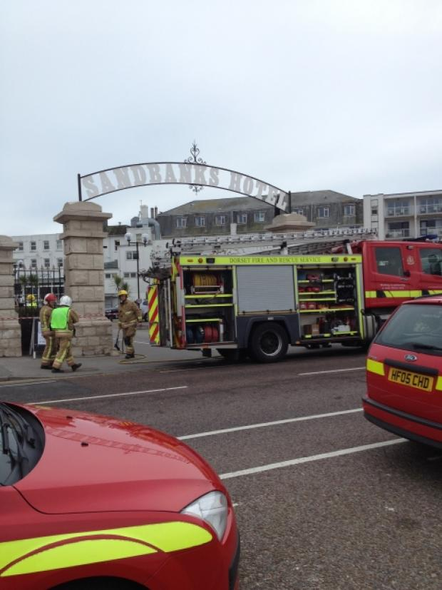 "Fire crews deal with a ""chemical incident"" at Sandbanks Hotel"