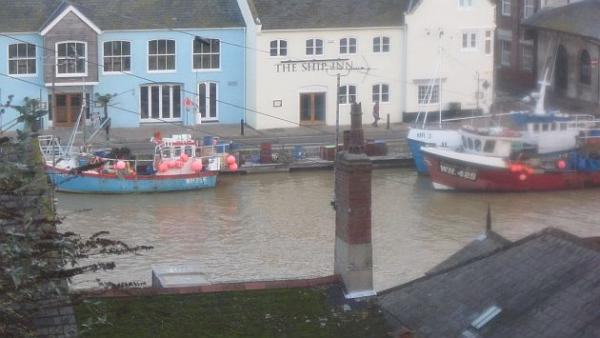 Weymouth harbour this morning (Jan 13)