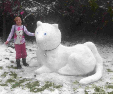 SNOW CAT: Luella from Branksome with her creation