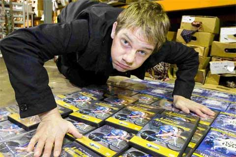 WHEELER DEALER: Karl Baxter wants ideas on how to sell 10,000 DVDs about Lance Armstrong. Picture: Jon Beal