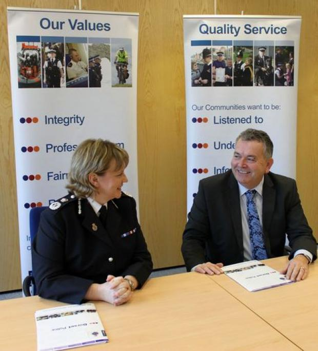 IN FORCE: Acting Chief Constable Debbie Simpson and PCC Martyn Underhill