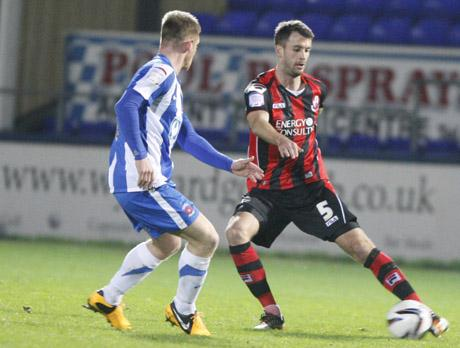 DEBUT: Dan Seaborne in action for Cherries on Tuesday