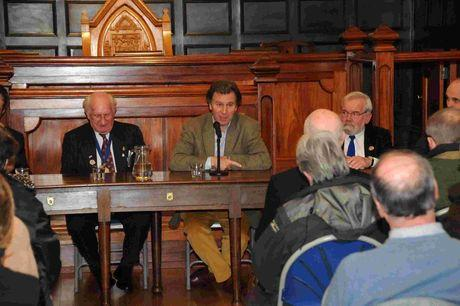 SUMMIT: MP Oliver Letwin at Miles Cross public meeting