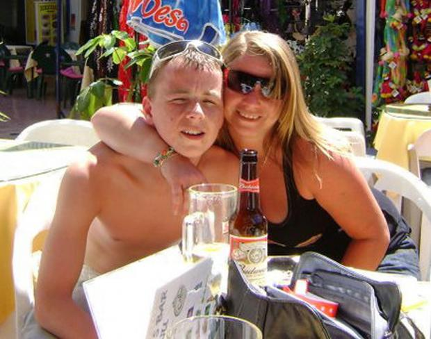 Tributes to 19-year-old Mikey Maguire with mum Allison