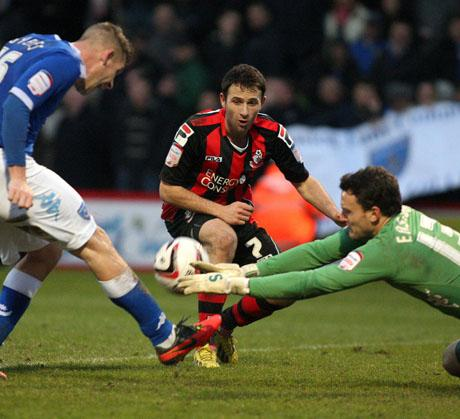MARKSMAN: Marc Pugh scored Cherries second goal on Saturday