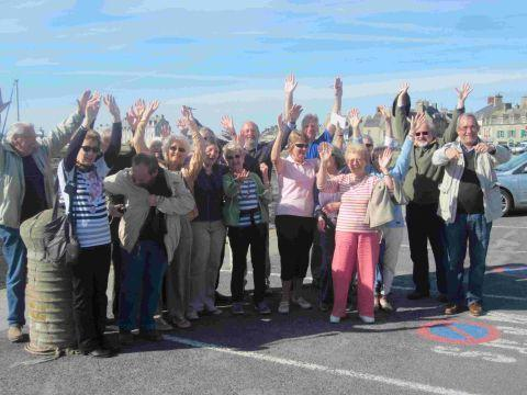 Twnning association members during a visit to Barfleur