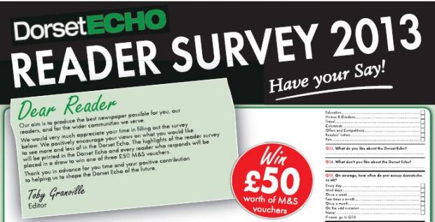 READER SURVEY: Have your say on what you read in the Dorset Echo