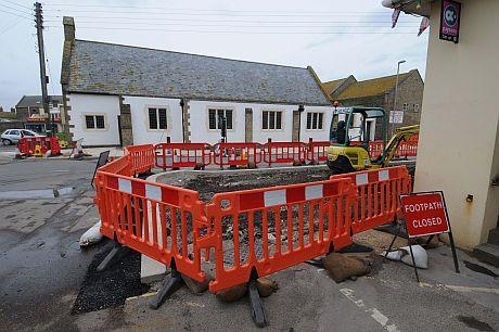 Road enhancement works at West Bay