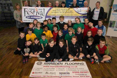 St Mary's pupils launch the Poole Festival of Running