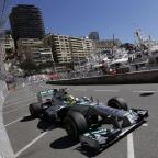 Nico Rosberg was quickest in first practice (AP)